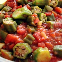 Creole Okra -Okra comes from a large vegetable plant thought to be of African origin, and it was brought to the United States three centuries ago by African slaves. The word, derived from the West African nkruma, was in use by the late 1700s. Grown in tropical and warm temperate climates, it is in the same plant family as hibiscus and cotton.