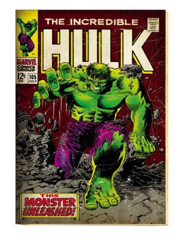Marvel Comics Retro: The Incredible Hulk Comic Book Cover #105 (aged) Print at AllPosters.com