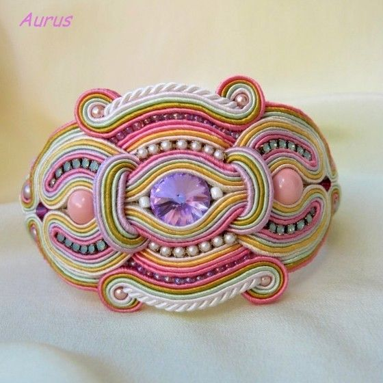 Web Site: Aurus Unique Jewelry       Soutache bracelet
