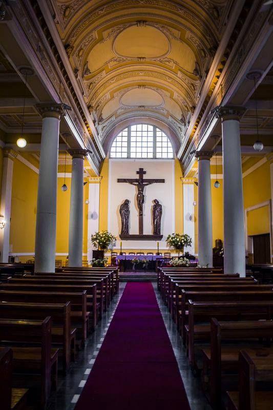Interior of the parish.