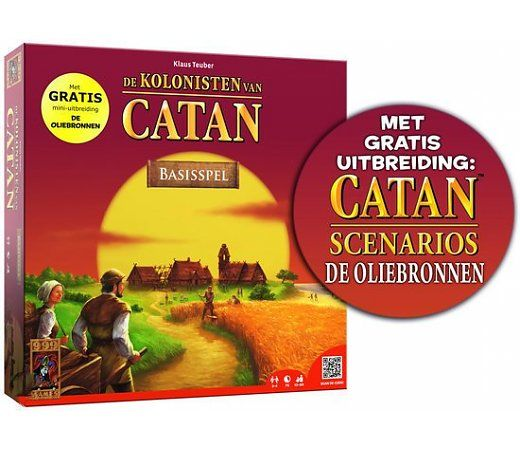 Een van de bekentste spellen! De Kolonisten van Catan.  Nu tijdelijk met extra oliebronnen! Ga dus voor zwart goud!  http://www.planethappy.nl/999-games-kolonisten-v-catan-incl-oliebronnen.html