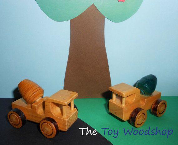 Mini Cement Truck by TheToyWoodshop on Etsy, $8.00