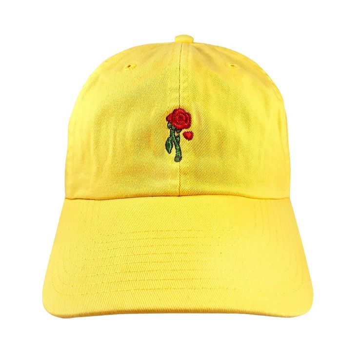 The rose she had offered was truly an enchanted one, but can you break the spell before the final petal falls? Complete any casual princess look with this comfy, cotton dad hat featuring a front-embro