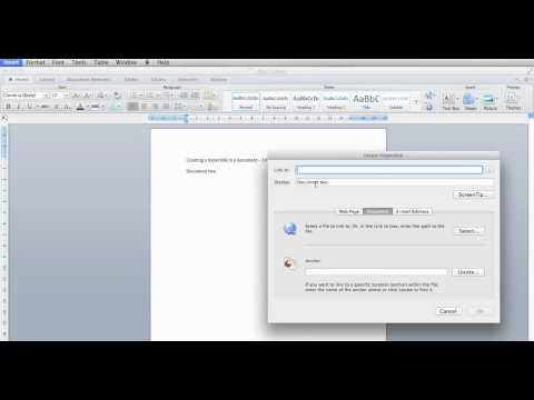 _How to hyperlink from one document to another
