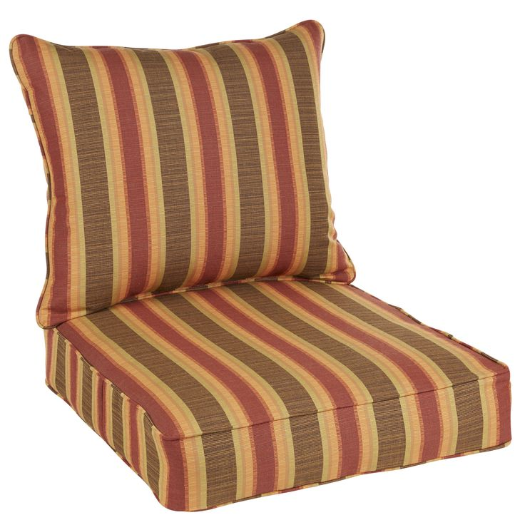 Stripped Indoor/ Outdoor Chair Cushion and Pillow Set