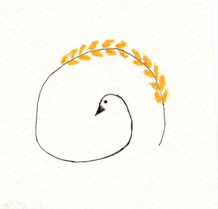 Simple Sweet Drawing Of A Swan
