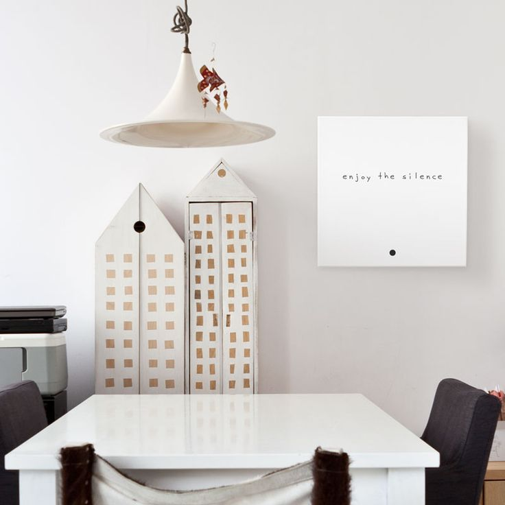 "typography art canvas quotes - ""enjoy the silence"" by Mint Mouse - www.mintouse.com"