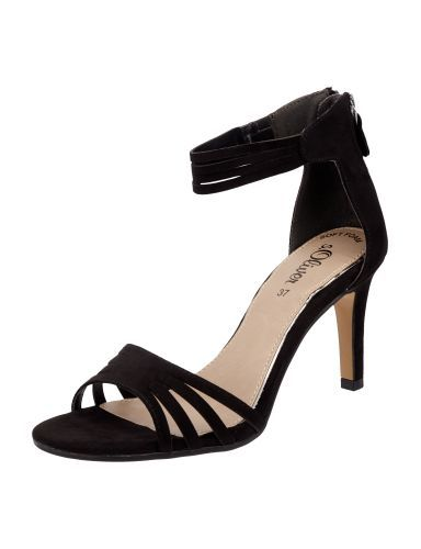 S-OLIVER-RED-LABEL Sandalette mit Pfennigabsatz in Grau / Schwarz online kaufen (9634189) » P&C AT Online Shop
