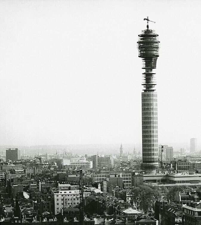 Construction photo of The Post Office Tower (circa 1963)