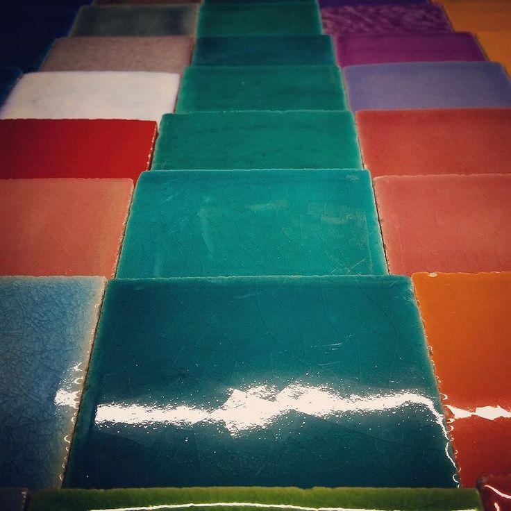 Multicolor handmade tiles