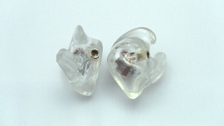 Get your in ear monitors customized today by www.inearcustom.com for only $119 In Ear Custom Clear Shure SE 535 customized IEM side   http://www.inearcustom.com