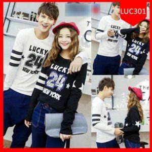 Fashion Baju Couple Lucky 24 New York Terlaris