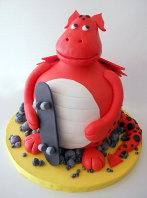 134 best Dino Dragon Cakes images on Pinterest Dragon cakes