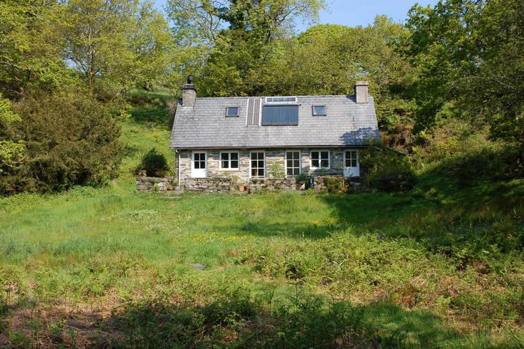 Hafod cottage is set in a tranquil woodland dell