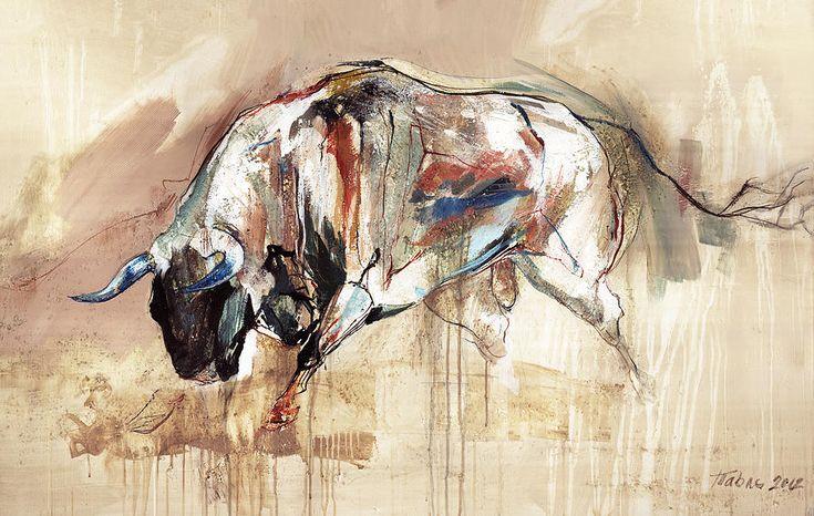 Bull Art canvas print from FineArtAmerica. Also on www.artzona.net