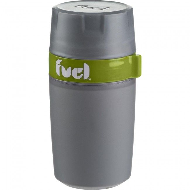 Take your hot soup or coffee on the go with a Fuel Food and Beverage Jar. These BPA-free food and beverage jars feature a lid that doubles as a bowl for easy serving and a snack container mid-section, great for crackers to go with your soup. The double wall construction insulates the interior and keeps your food hot until lunchtime.