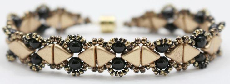 Kheops® par Puca® Camille bracelet done in gold and black.