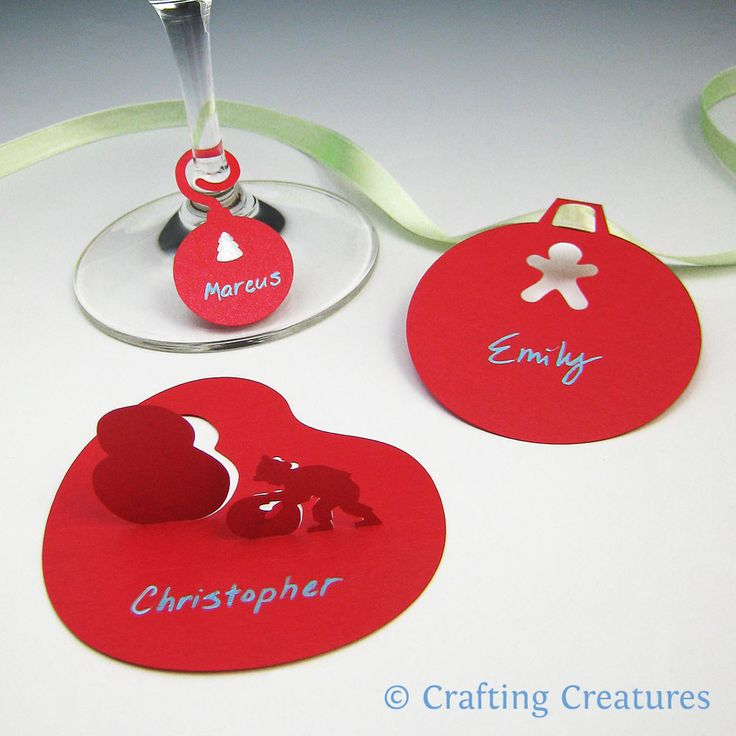 glass  tags paper ornaments