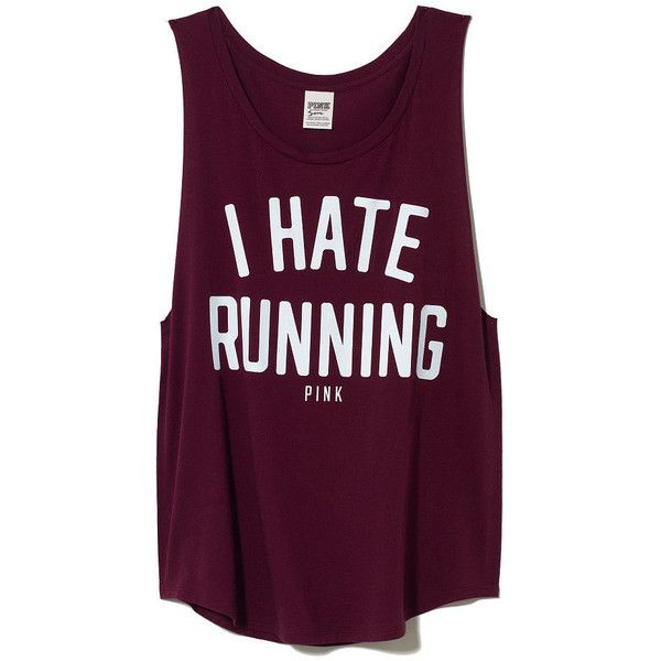I want this shirt to run in..... Victoria's Secret PINK Boyfriend Tank