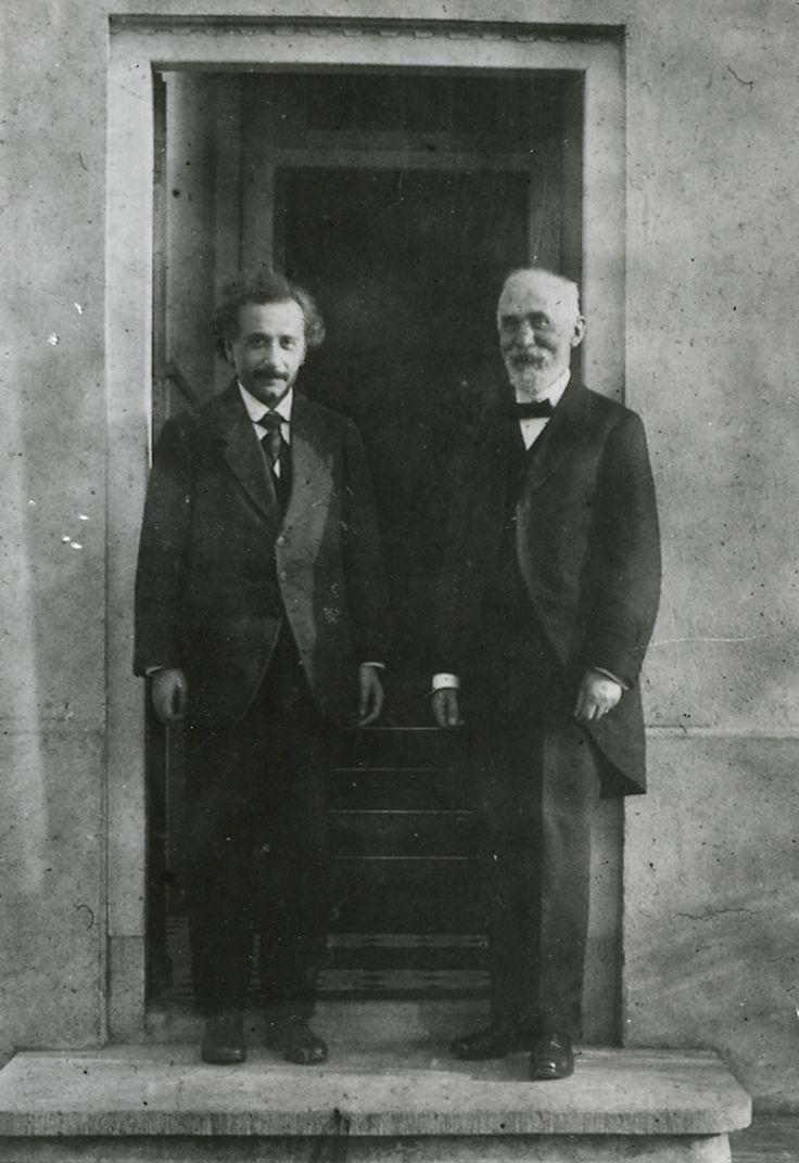 Albert Einstein and Hendrik Lorentz.