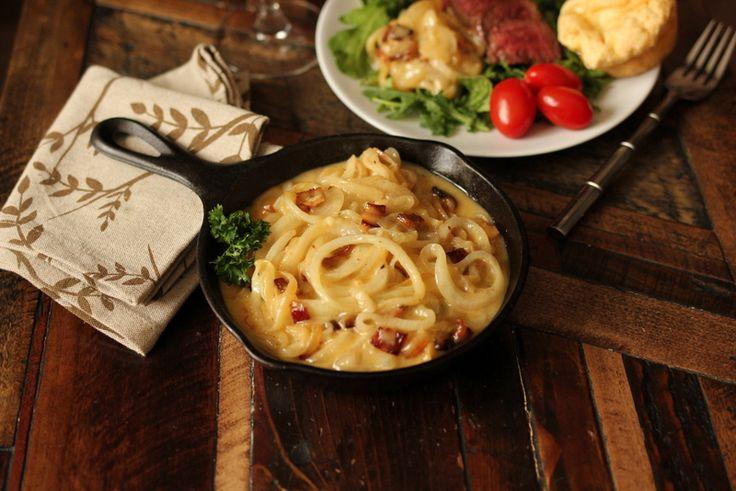 onion carbonara, low carb pasta, low carb carbonara, dairy free pasta
