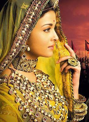 Aishwarya Rai as Jodhaa from Jodhaa Akbar. Jewellery - fashion. She's a hindu princess, though - I presume fashion differs drastically.