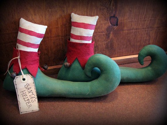 Elf Boots with sand for door stops