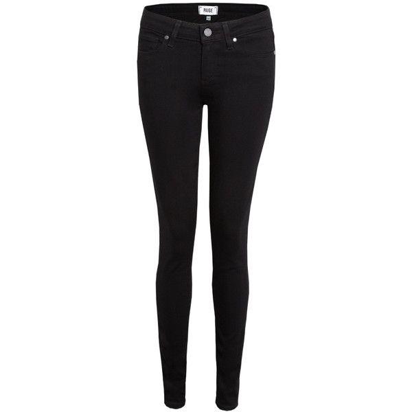 Paige Verdugo Skinny Jeans - Black Shadow found on Polyvore