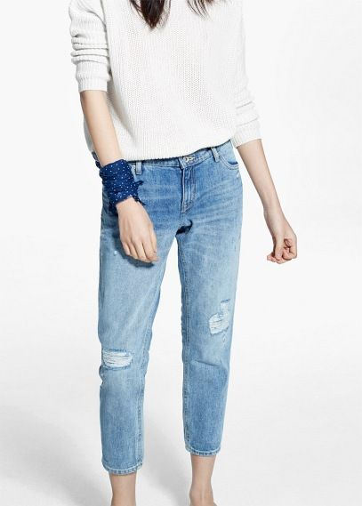 Mango outlet - jean slim cropped - taille 40 - 30€