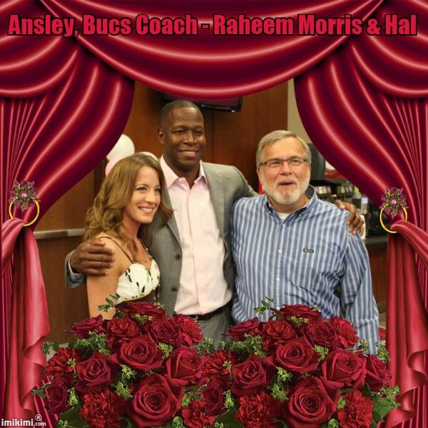 Ansley, Bucs Coach - Raheem Morris, & Me (Hal) Mothers Day at Number One Bucs Place  :-)