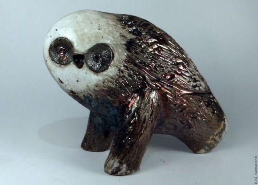 Статуэтки ручной работы. Ярмарка Мастеров - ручная работа. Купить скульптура керамическая Сова. Handmade. Комбинированный, белая глина, анималистика
