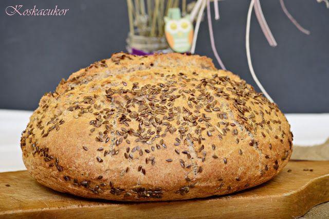 Koskacukor: Lenmagos-tejfölös tönköly kenyér