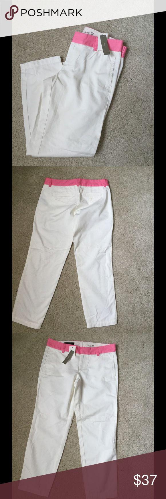 J.Crew Sz 2 ankle pants Ivory New New J. Crew Sz 2 Ivory cotton pants J. Crew Pants Ankle & Cropped