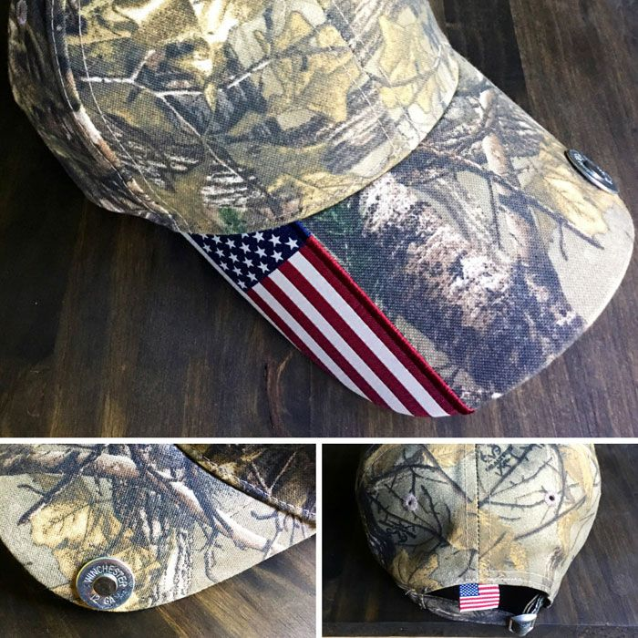 Camo and Flag Cap with Shotgun Shell