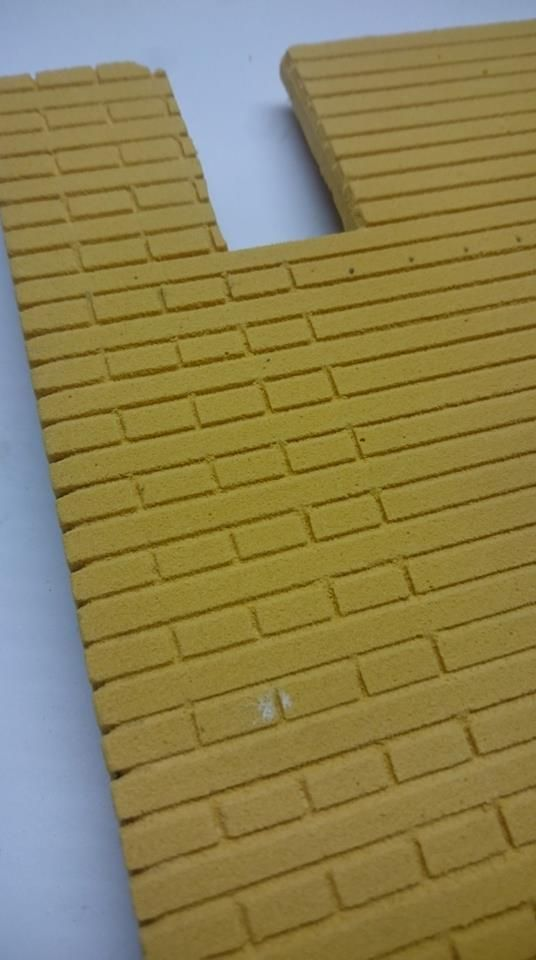 The making of balsa foam wall in pictures by andrew