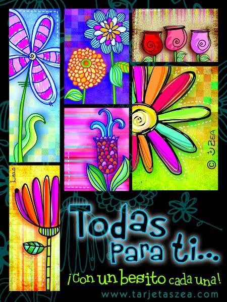 Flores© ZEA www.tarjetaszea.com