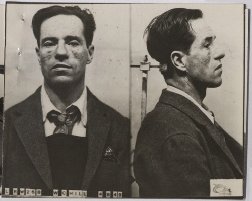 William (Billy) Hill, a notorious London gangster who was suspected of orchestrating a daring robbery on a Post Office mail van in 1952 which netted the criminals responsible £ 236,748 10s. Read the full story at http://postalheritage.wordpress.com/2012/05/21/the-great-unsolved-crime/