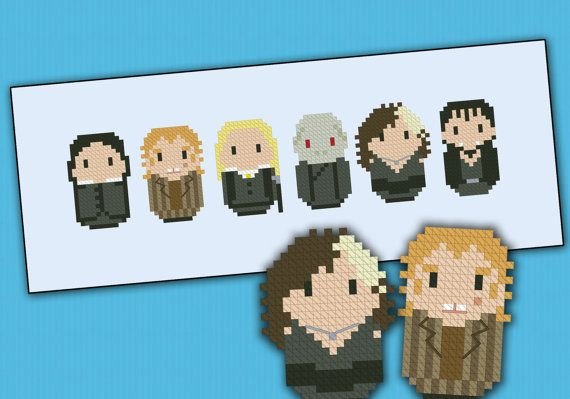 Harry Potter evil villains parody - Cross stitch PDF patter