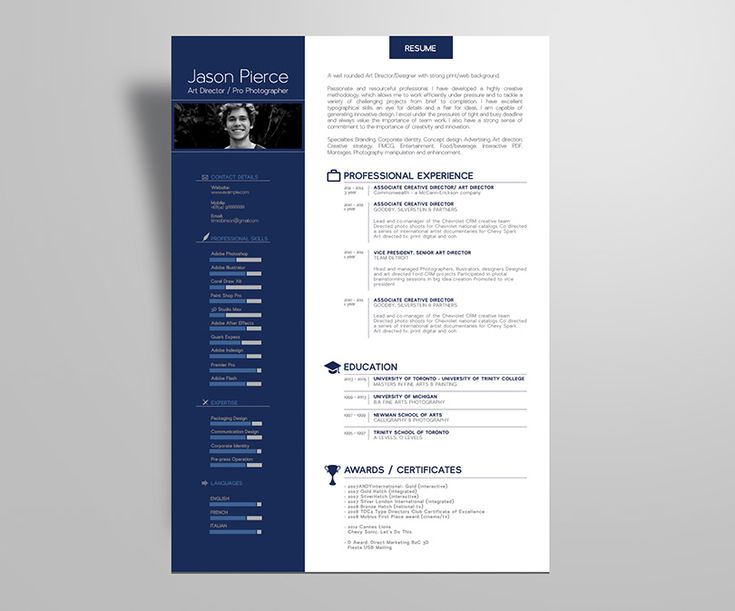 Design Free Resume Template