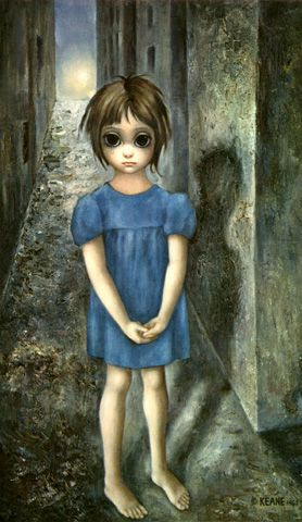 Margaret Keane, this was her view of the world before she became a Jehovah's Witness. Now her art is bright and beautiful ! The Bible does change lives.