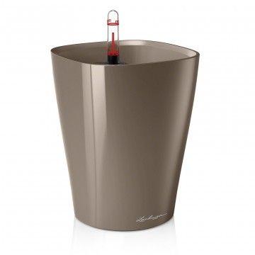 Vaso DELTINI con sistema di AUTO-IRRIGAZIONE - 14x14xh.18 cm - disponibile in 4 COLORI