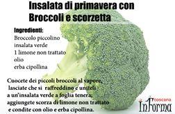insalata di primavera con broccoli e scorzetta