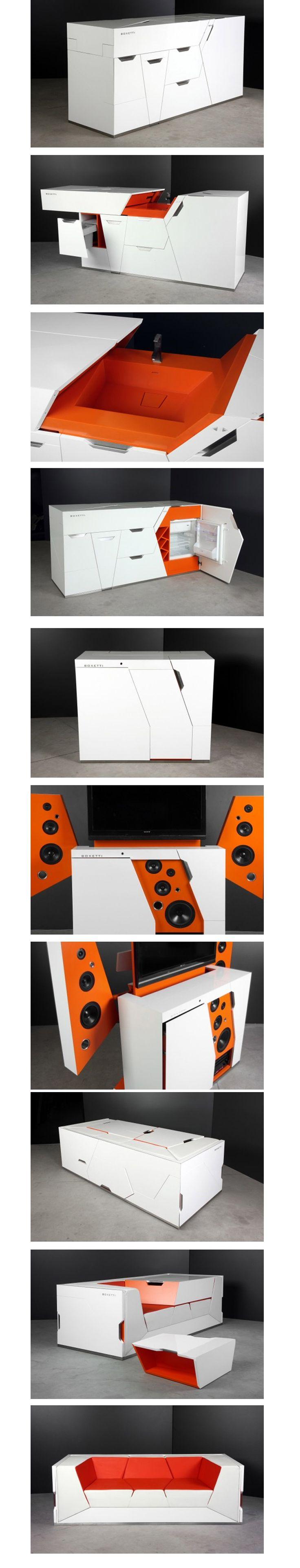 A empresa de móveis modularesBoxetticria soluções de otimização de espaço em casas, com muita elegancia e minimalismo para camas, sofás, mesas e home theaters.      ...