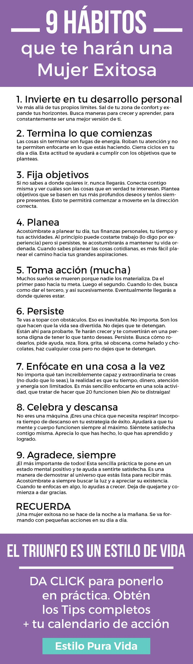 Los 9 Hábitos de una Mujer Exitosa - Aprende Cuáles Son