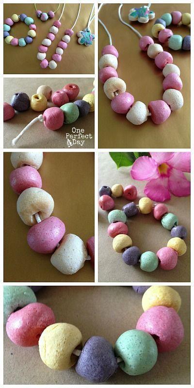 Salt dough jewelry kids can make!  Fun!