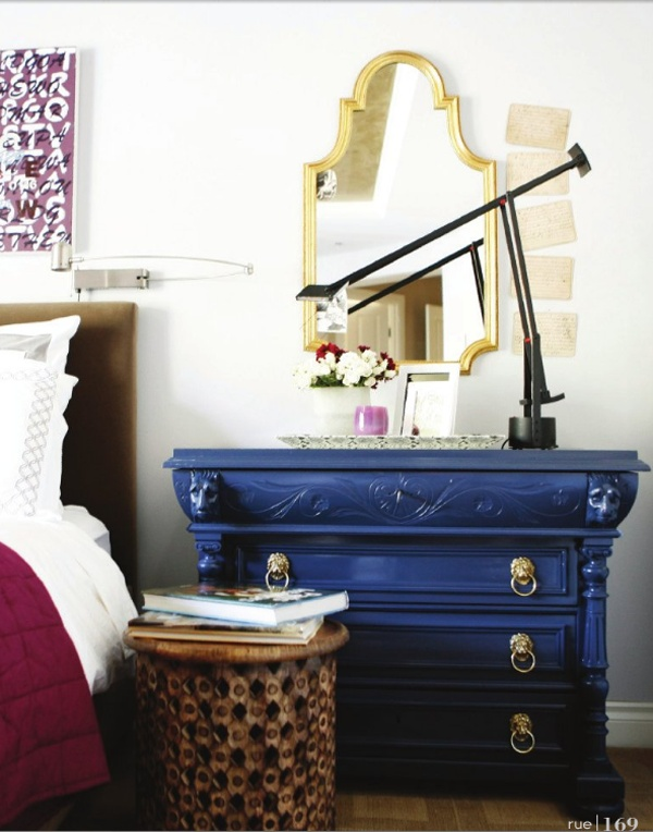 Mirror And Painted Bedside Table: 163 Best Images About Blue Painted Furniture On Pinterest