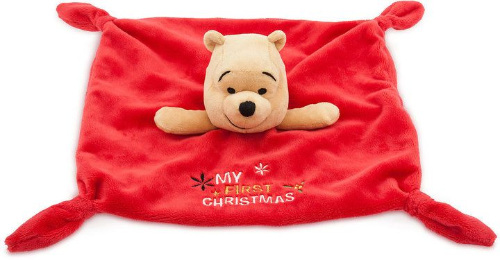 Disney Winnie the Pooh Holiday Plush Blanket for Baby