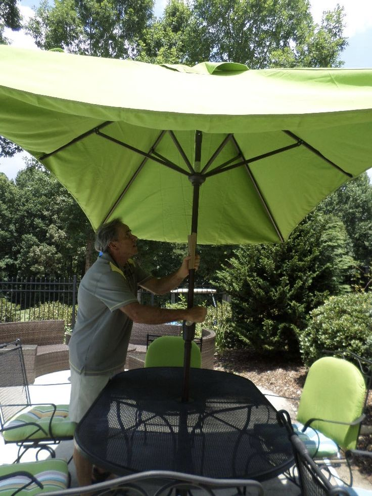 The Three Must Have Patio Umbrella Features We Look For Are A Crank  Opening, A