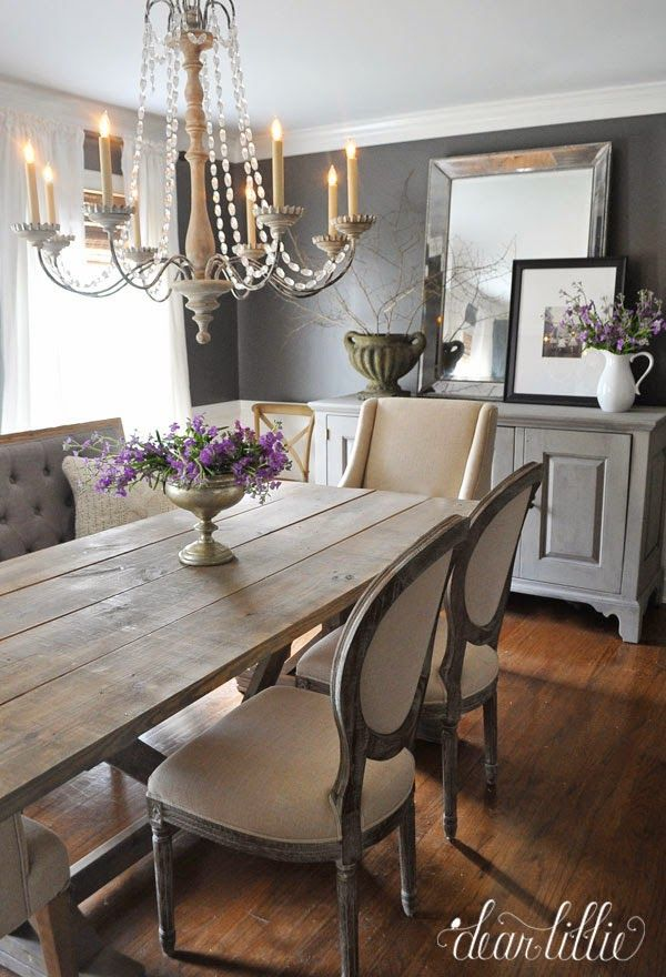 Kendall Charcoal In Our Dining Room By Dear Lillie I Love The Mixture Of Chairs Here House Decor Pinterest And