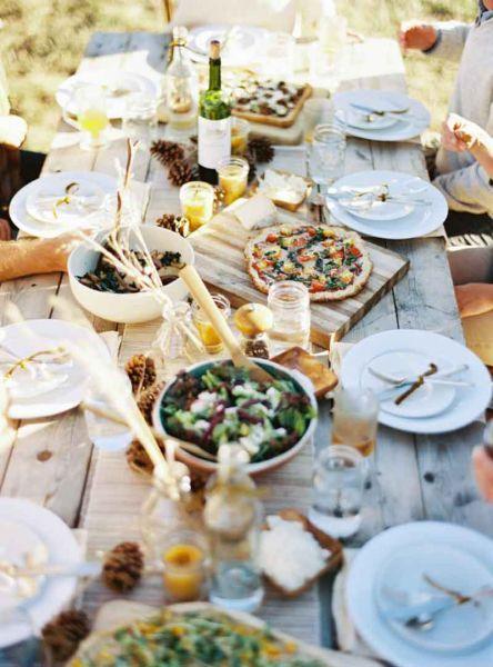 ... fleurs dautomne, Centres de table en citrouilles blanches and Centres